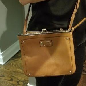 Cat's Meow - Nine West tan leather crossbody purse